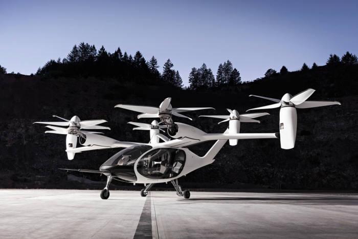 15일 토요타가 공개한 도심형 수직이착륙 비행체(eVTOL).
