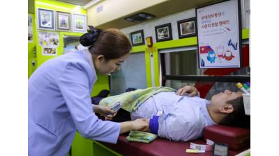 롯데정보통신, 임직원 50여명 헌혈 동참