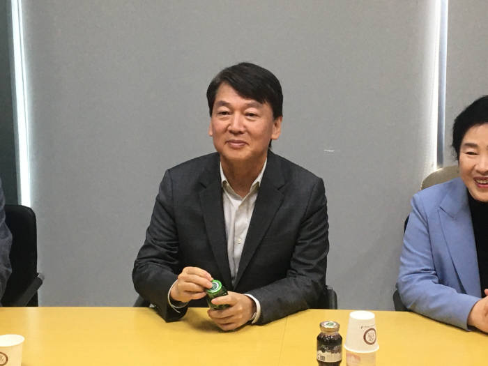 23일 KAIST를 방문한 안철수 전 바른미래당 의원