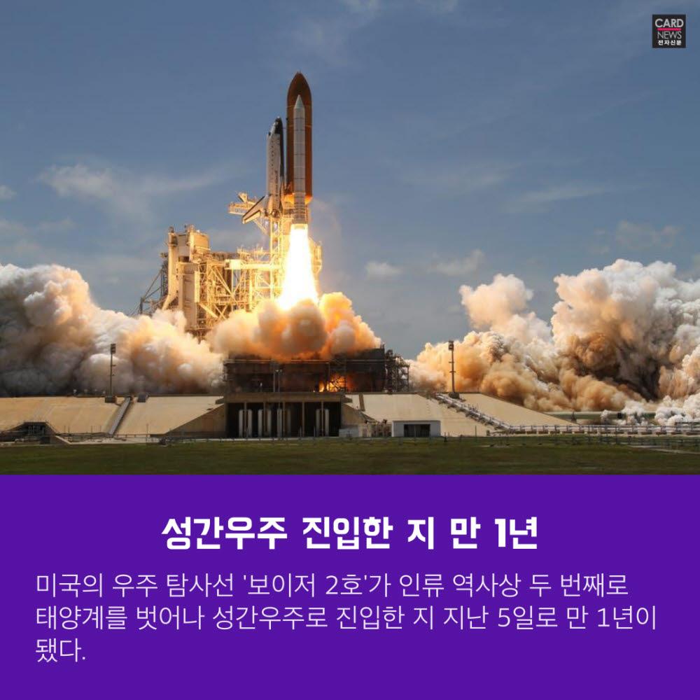 [카드뉴스]보이저 2호 '인터스텔라' 진입 성공