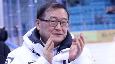 정몽원 회장, 국제아이스하키연맹 '명예의 전당' 헌액