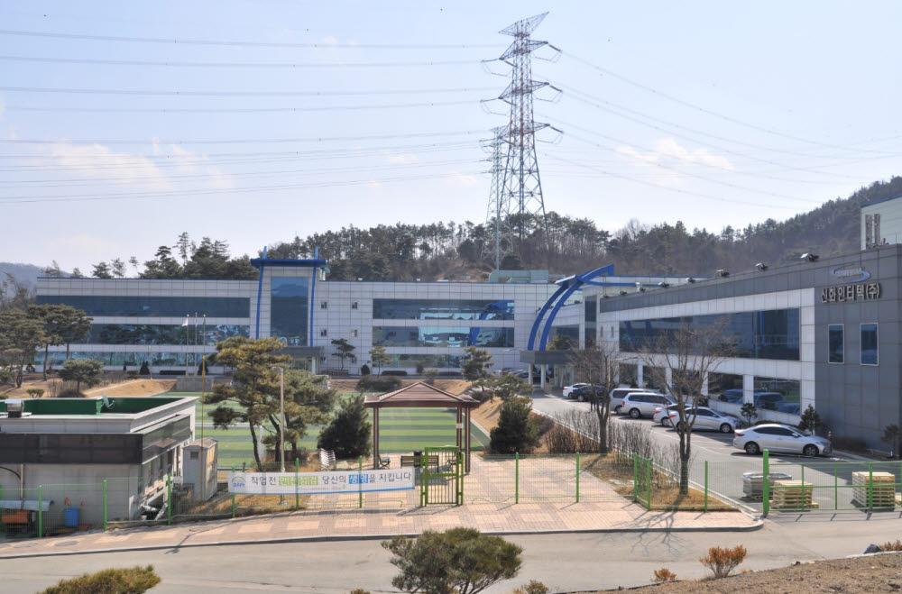 신화인터텍 천안 공장 전경.