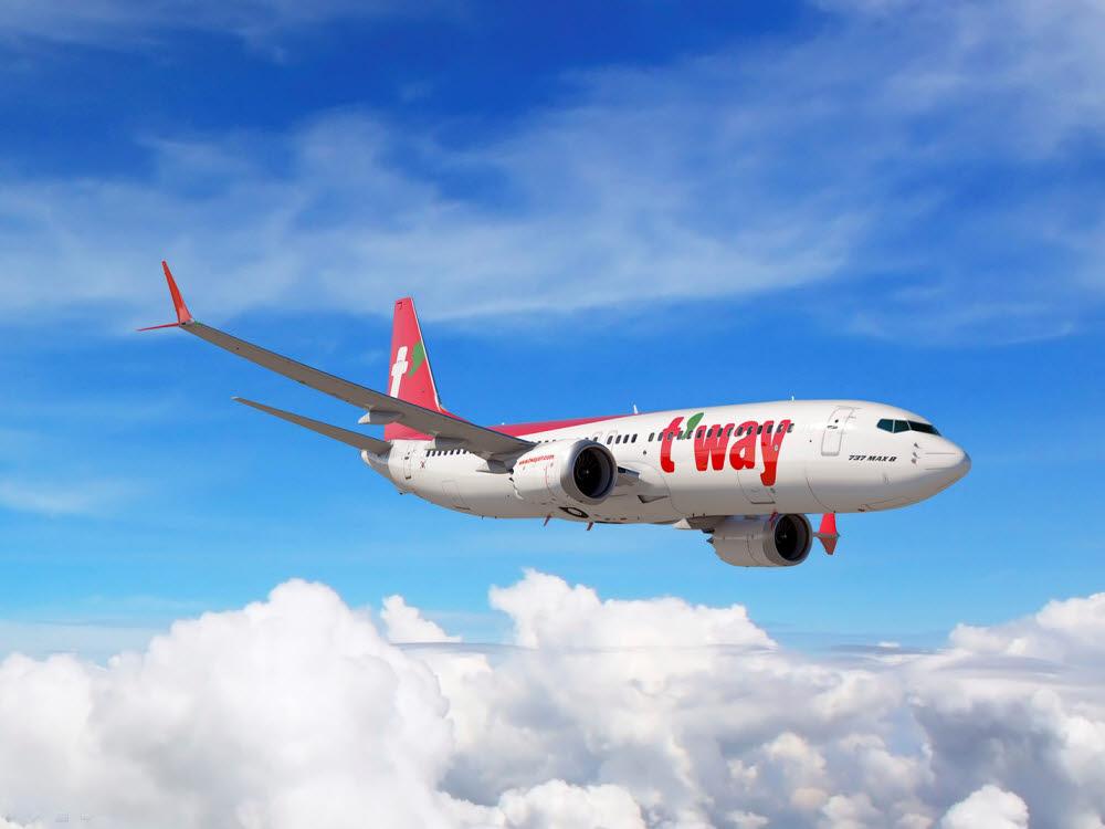 티웨이항공 B737-800 항공기.
