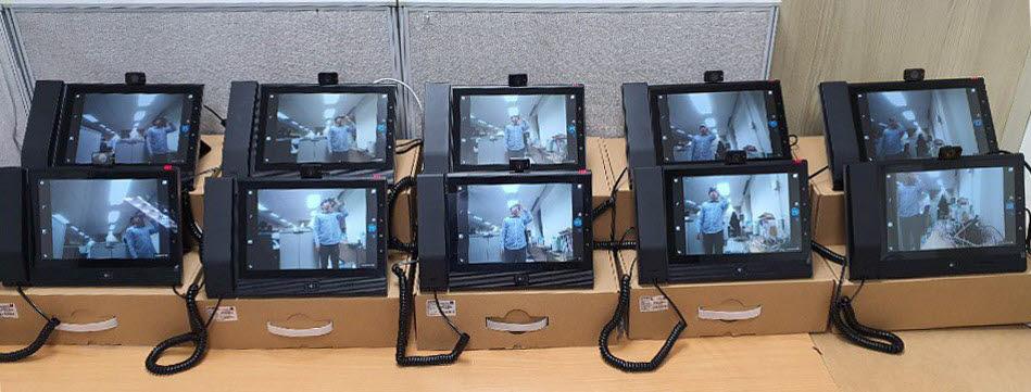 제품 출시 전 48시간 에이징 테스트 중인 SVP2000콤보 모습