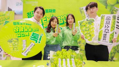 동아오츠카, '데미소다' 라인업 확대…'청포도' 출시