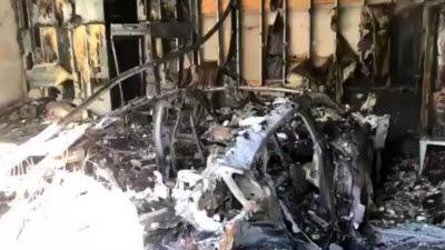 포르쉐 '타이칸', 미국서 차고지 주차 중에 화재 폭발 사고