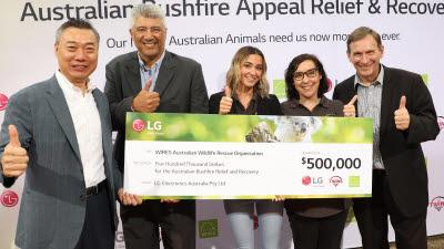 LG전자, 호주 산불피해 돕기에 50만호주달러 기부
