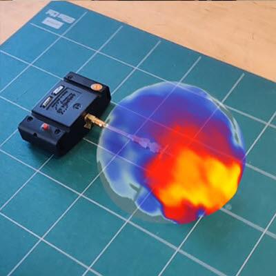 스캔폰 안테나 방사 측정 이미지