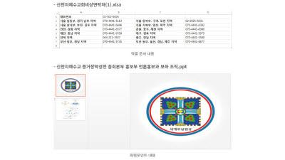 '신천지 비상연락처' 위장한 악성코드 유포 중