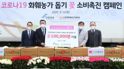 은행연합회, 코로나19 화훼농가 돕기 캠페인