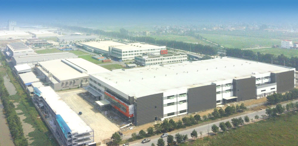에이스테크 베트남 신규 공장 전경