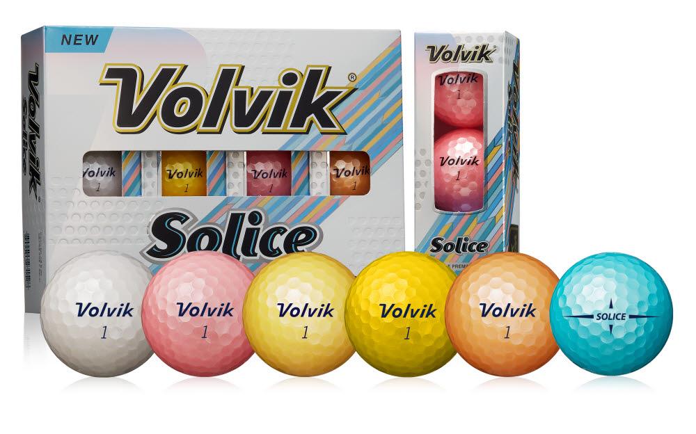 볼빅이 새롭게 출시한 골프공 솔리체(Solice) 제품모습