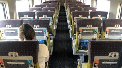 '코로나19'로 텅 빈 열차