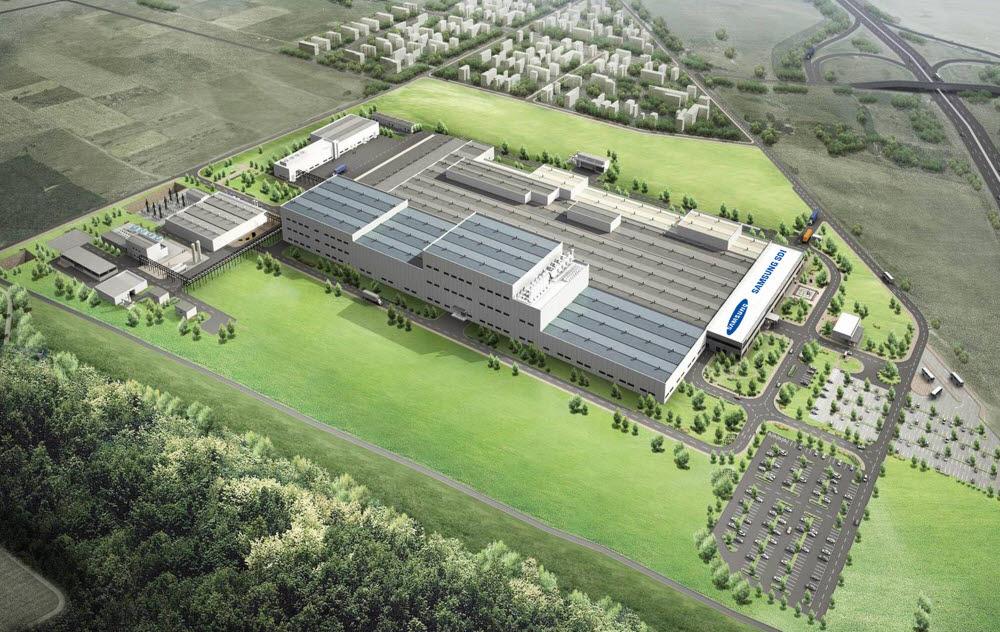 삼성SDI 헝가리 전기차 배터리 공장 조감도.(자료: 삼성SDI)