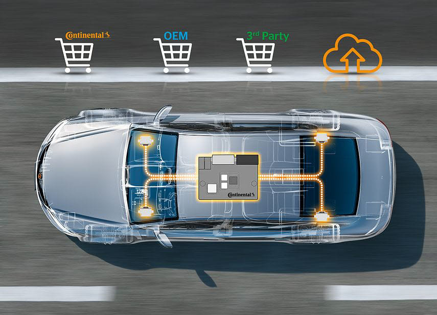 차량용 서버. 하드웨어와 소프트웨어를 분리한 차량용 응용 프로그램 서버 ICAS1는 자체 애플리케이션은 물론 써드파티 소프트웨어까지 통합해 업데이트할 수 있다.