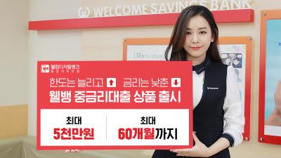 머신러닝 기반 신용평가 모델 탑재…웰컴저축銀, '웰뱅 중금리대출' 출시