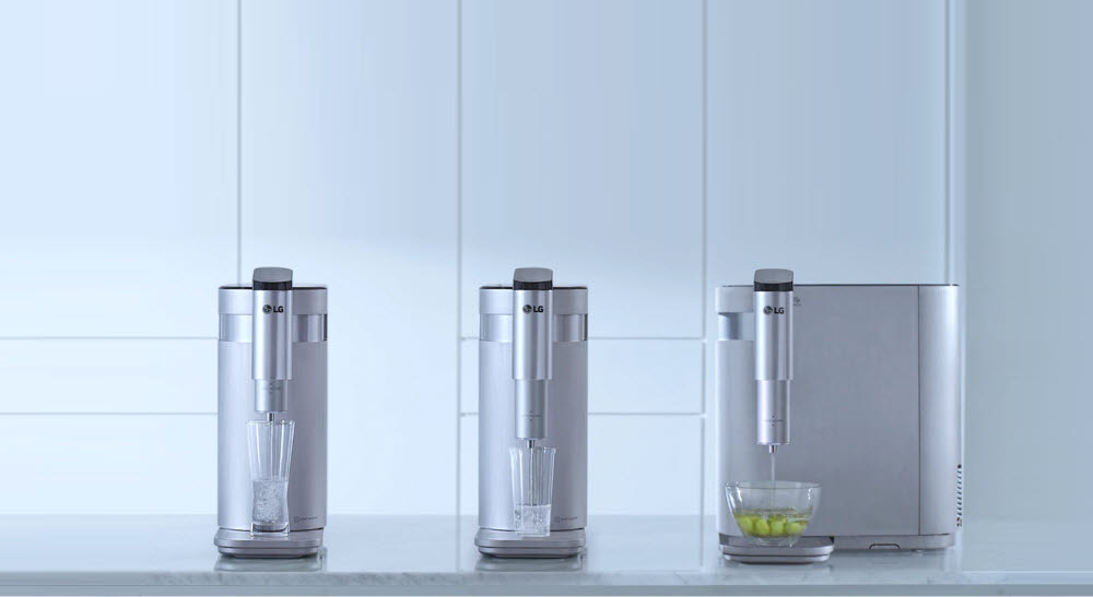 LG Furycare top, bottom, left and right water purifier (Photo = LG Electronics)