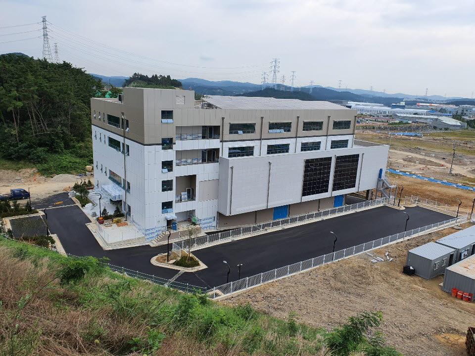 부산 파워반도체 상용화센터 전경.
