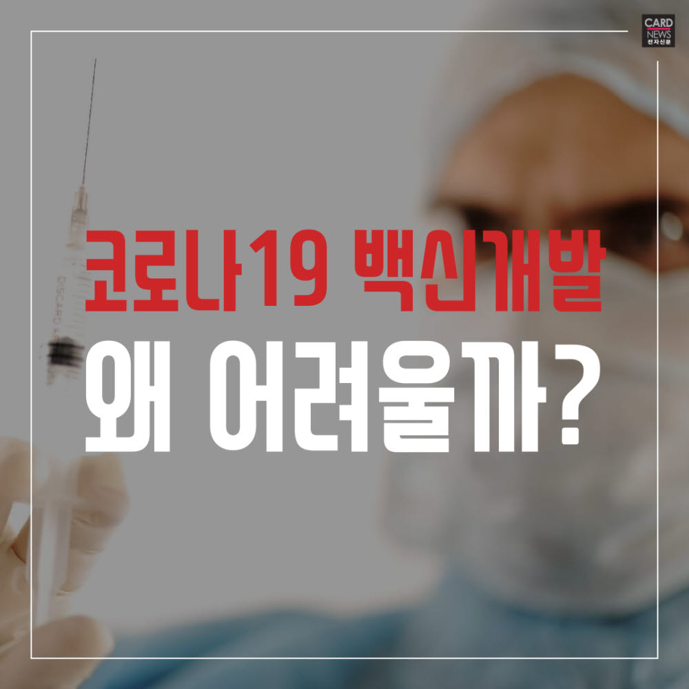 [카드뉴스]코로나19 백신 개발, 왜 어려울까?