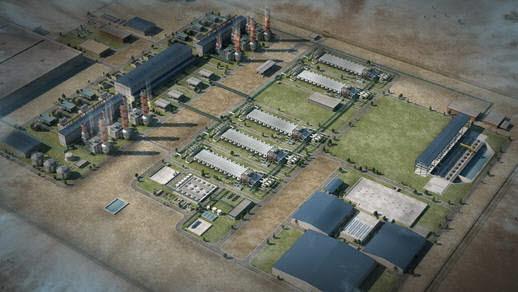 내용과 무관. 삼성물산이 지난 3월 카타르에 준공한 담수복합발전소 조감도. [사진= 삼성물산 제공]