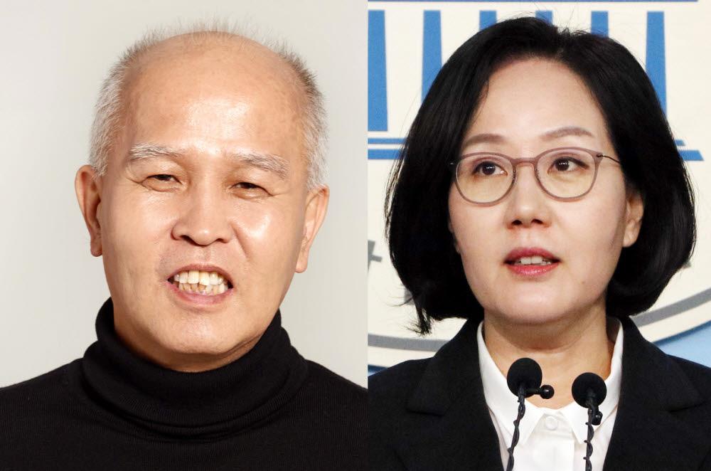 이용우 민주당 후보(왼쪽)와 김현아 통합당 후보 <연합뉴스>