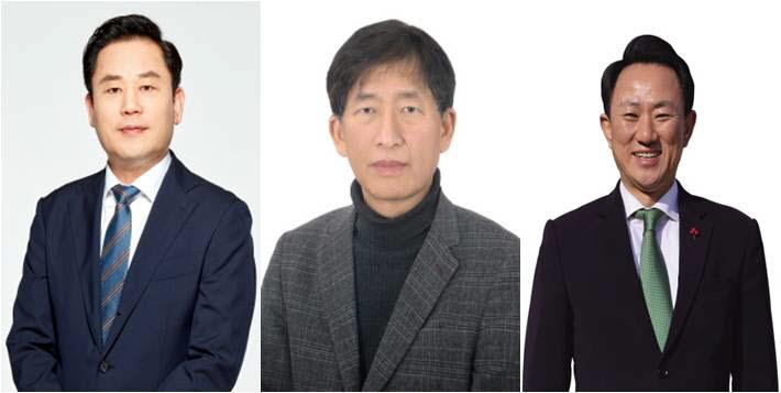 송갑석, 주동식, 김명진 광주 서구갑 후보