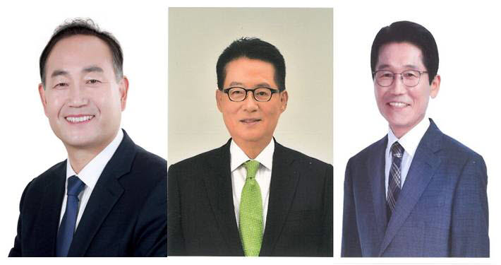 김원이 민주당 후보, 박지원 민생당 후보, 윤소하 정의당 후보