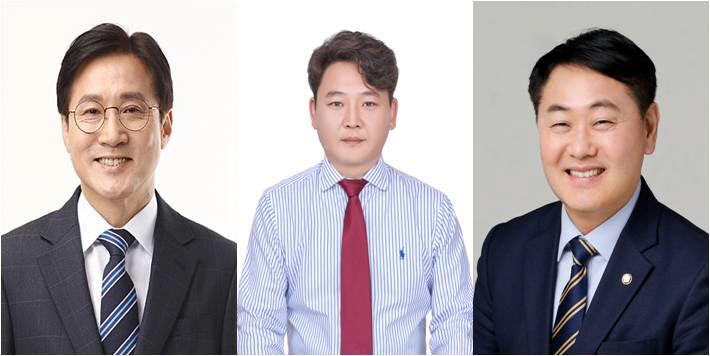 신영대 민주당 후보, 이근열 미래통합당 후보, 김관영 무소속 후보