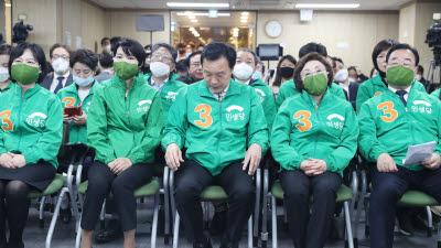 고개숙인 민생당, 침울한 정의당
