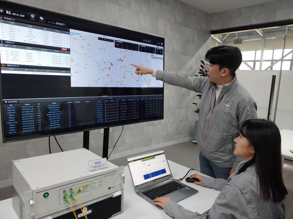 KT, 광케이블로 지하 시설물 위험 감지·확인 'DAS' 플랫폼 개발