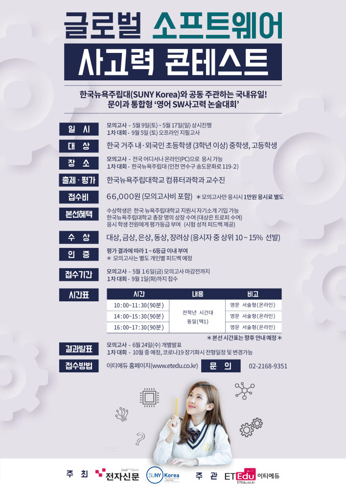 (Notice) G-SWTC to switch to online exam 'Mock Test' in May… 1st competition held on September 5