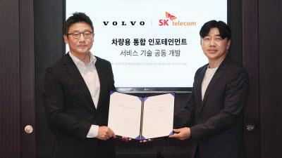 SK텔레콤, 볼보자동차코리아와 '차량용 통합 인포테인먼트 서비스' 공동 개발