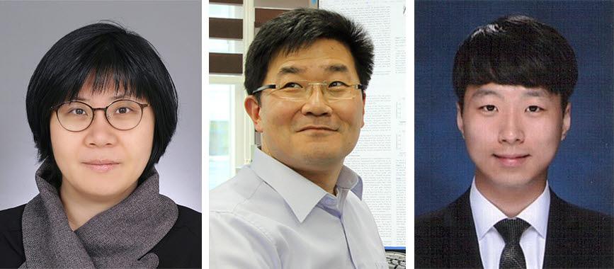 사진 왼쪽부터 임미희 교수, 백무현 교수, 김민근 석박사통합과정