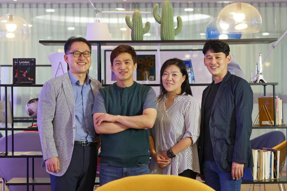 송현곤 UNIST 교수팀(왼쪽부터 권태혁 교수, 김병만 연구원, 이명희 연구원, 송 교수)