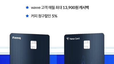 월 최대 1만3900원 페이백 '웨이브 전용카드' 출시