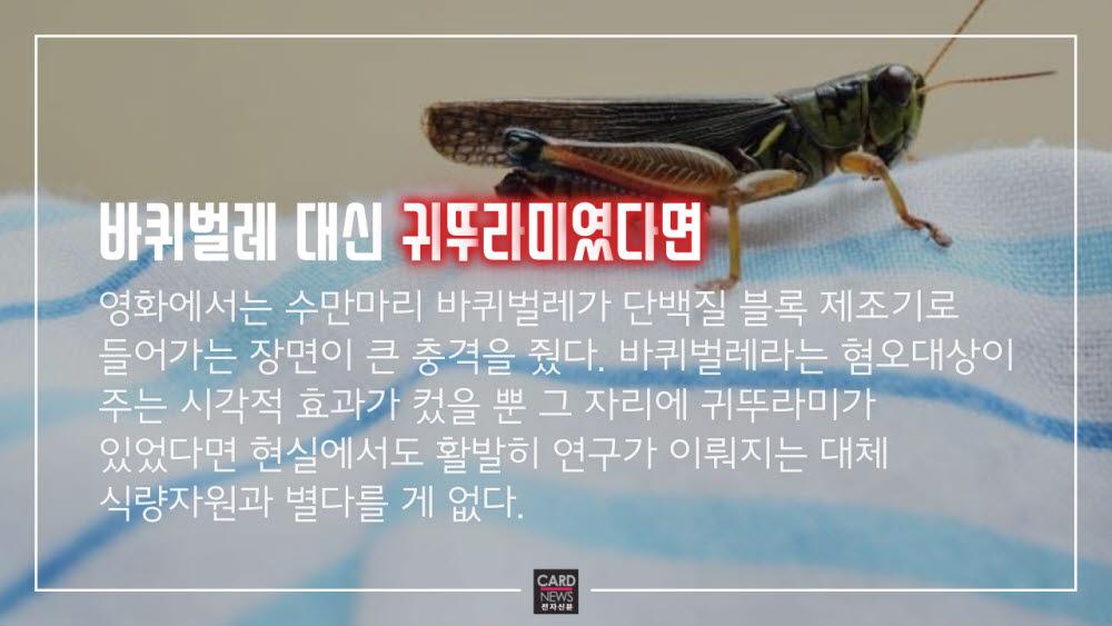 [카드뉴스]미래식량, 바퀴벌레 양갱?
