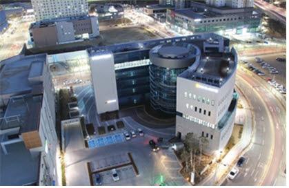 오픈랩이 있는 경북혁신도시내 산학연유치지원센터 전경