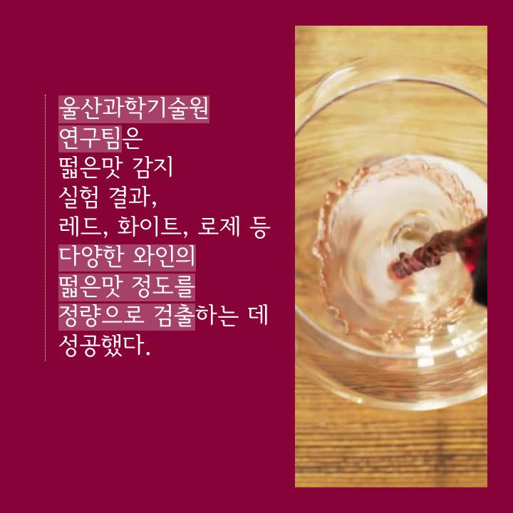 [카드뉴스]떫은맛 감별하는 '전자 혀'