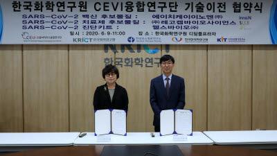 CEVI 융합연구단, 코로나19 연구성과 기술이전