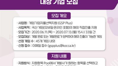 한국콘텐츠진흥원, 게임기업자율선택지원 사업 모집