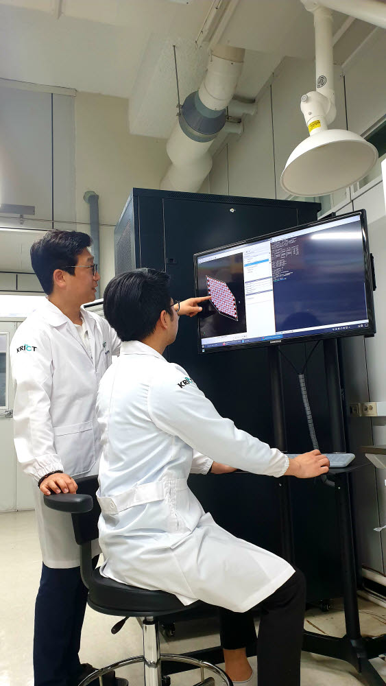 화학안전연구센터 연구진이 계산화학 시뮬레이션을 수행하는 모습. 사진 왼쪽부터 김종운 센터장, 트린수안텅 연구원.
