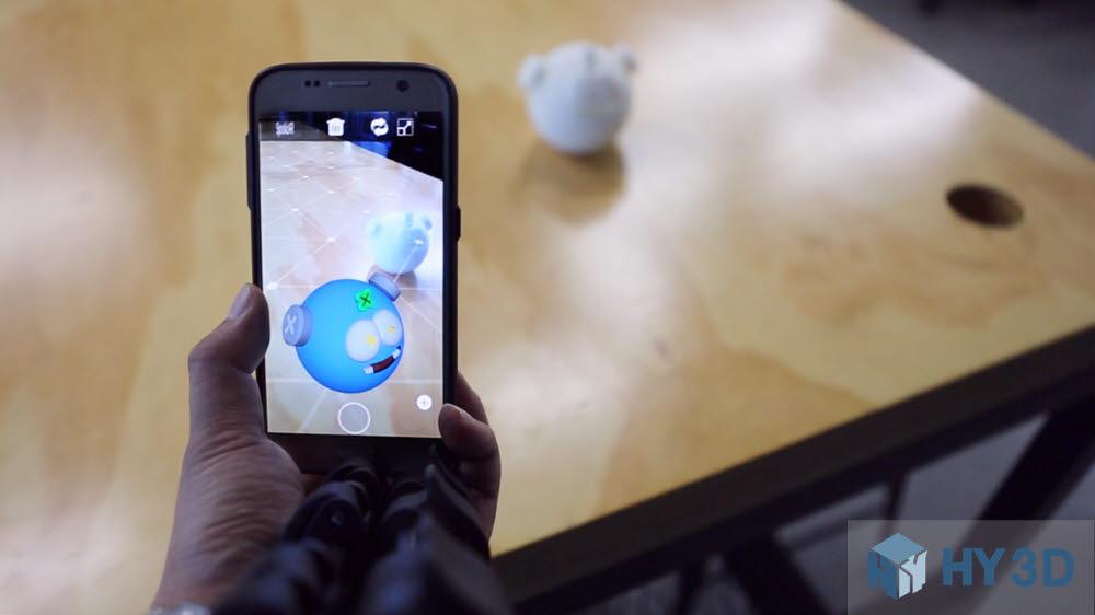 하이쓰리디의 AR 시뮬레이션 서비스 화면.