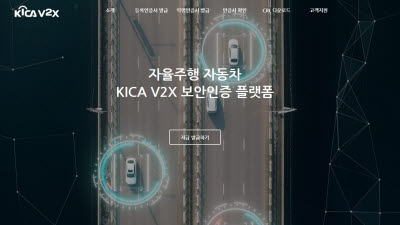 한국정보인증, V2X 보안 인증서 발급 개시