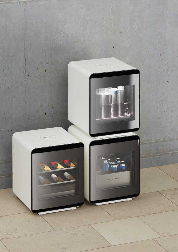 삼성전자가 하반기 출시할 라이프스타일 가전 큐브 냉장고 3종