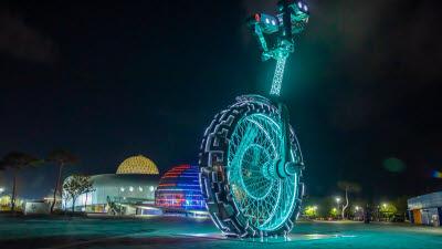 국립광주과학관, 세계 최대 키네틱아트 조형물 '스페이스 오딧세이' 제막식