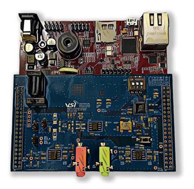 VSI와 인피니언이 협력해서 만든 자율주행차 이더넷 네트워크 평가보드. <사진=VSI>