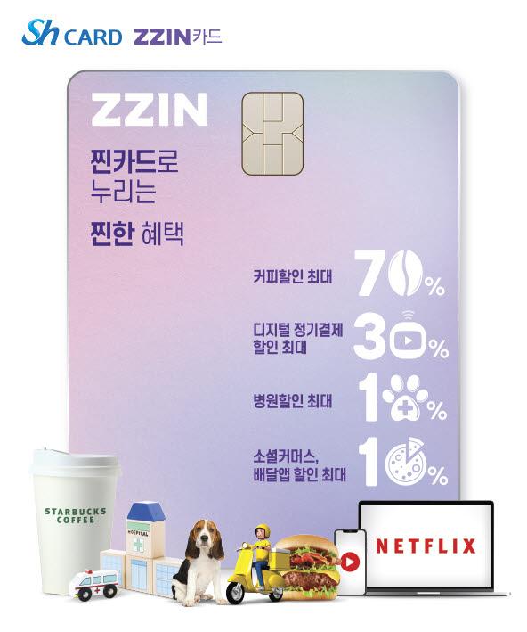 Sh수협은행, 할인형 ZZIN(찐) 신용카드 출시