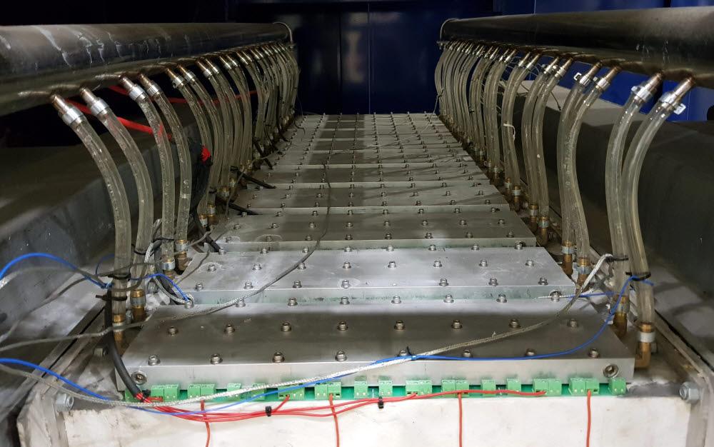 발전설비 내부 열전발전용 반도체 모듈 모습