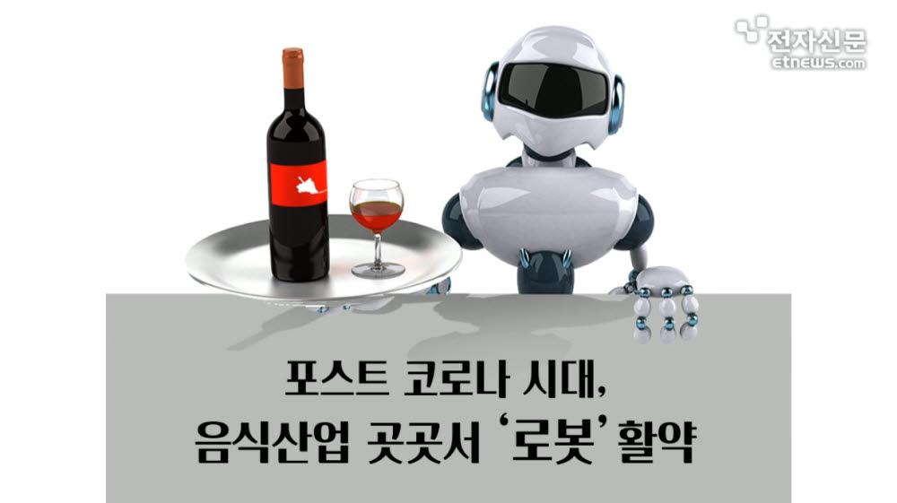 [모션그래픽]포스트 코로나 시대, 음식산업 곳곳서 '로봇'활약