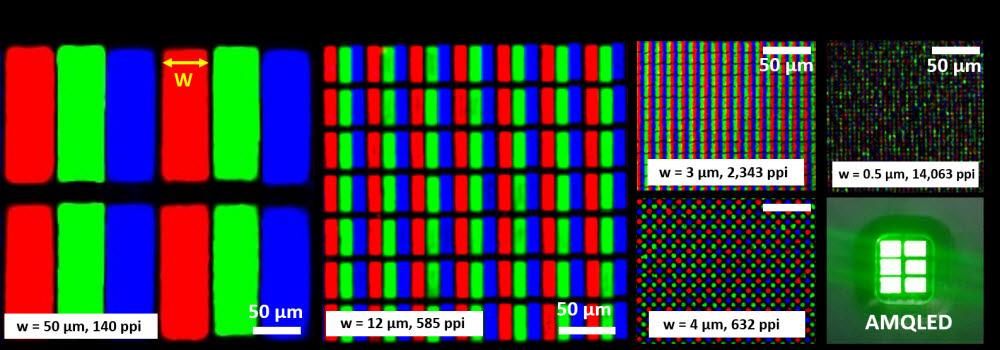 KAIST의 초고해상도 풀컬러퀀텀닷 LED 이미지